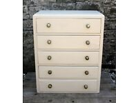 ***REDUCED*** Chest Of Drawers - Shabby Chic - Hand Painted in Annie Sloan Old Ochre Chalk Paint