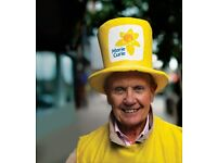 Volunteer to collect for Marie Curie