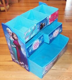 "Childs Disney ""Frozen"" Storage Unit with canvass pull out draws"