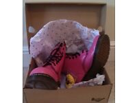 DR MARTEN'S PINK ROSE BOOTS UK 7 / EUR 41 * VERY RARE * WORN ONCE * IN BOX & TAGS