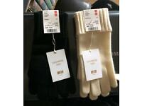 Two pairs cashmere gloves uniqlo bnwt