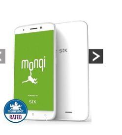 """New STK Sync 5e Smartphone White 8GB 5.0"""" Dual Sim Quad Core Android 6.0 Sim Free Unlocked"""