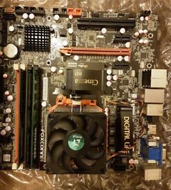 Foxconn Cinema II Deluxe Motherboard with AMD Phenom X 8450e 6GB Ram, 500GB HDD
