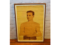 Vintage 1930s Anatomical medical chart poster educational wall art antique industrial framed