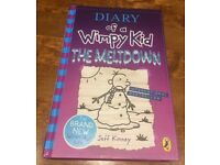 Diary of a wimpy kid 'The Meltdown' hardback book
