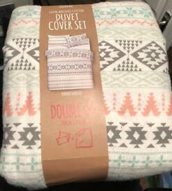 Double duvet set never used