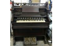 A Ornate Edwardian Air Organ / Pump Organ