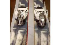 K2 twin tip 174cm skis, with Salomon bindings and bag