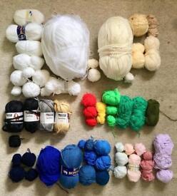 Job Lot Mixed Yarn Wool Acrylic Knitting Crochet Crafts