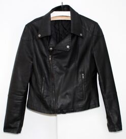 Ladies Faux Leather Jacket Size 14