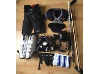 Ice Hockey - Full kit and bag