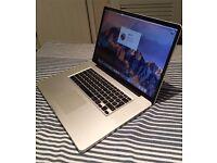"""Apple MacBook Pro 17"""" 2.2GHz i7 quad CPU, 8GB ram, 480GB SSD, 1GB Radeon 6750"""