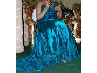 Green french prom dress size 14..16