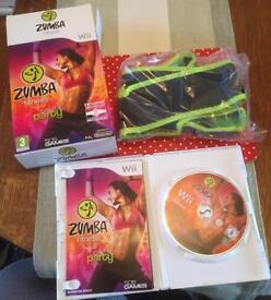 Wii ZUMBA fitness game including Zumba Fitness Belt - Unused