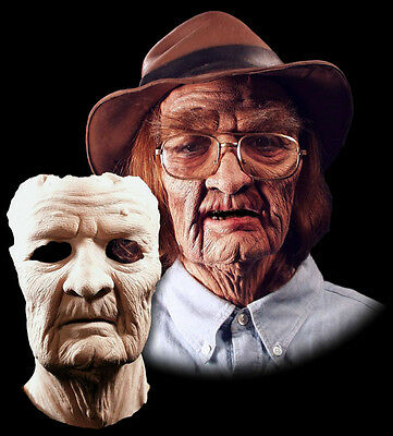 Funny Old Man Grandpa Halloween Mask  Prosthetic Appliance Moves with Face