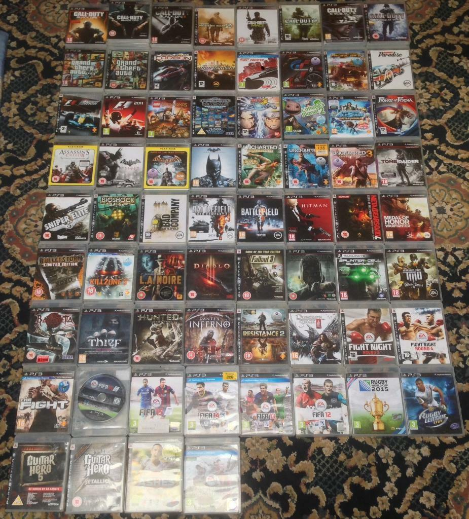 PLAYSTATION 3 PS3 GAMES GTA 5 FIFA CALL OF DUTY BLACK OPS LEGO BATMAN MW2 MW3 MW4 NEED 4 SPEED PS4