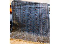 Beautiful Large Egyptian Rug - Blue
