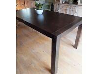 Dining room table. Mahogany veneer (John Lewis) seats 6-8 Good condition 180 long x 90 wide £145