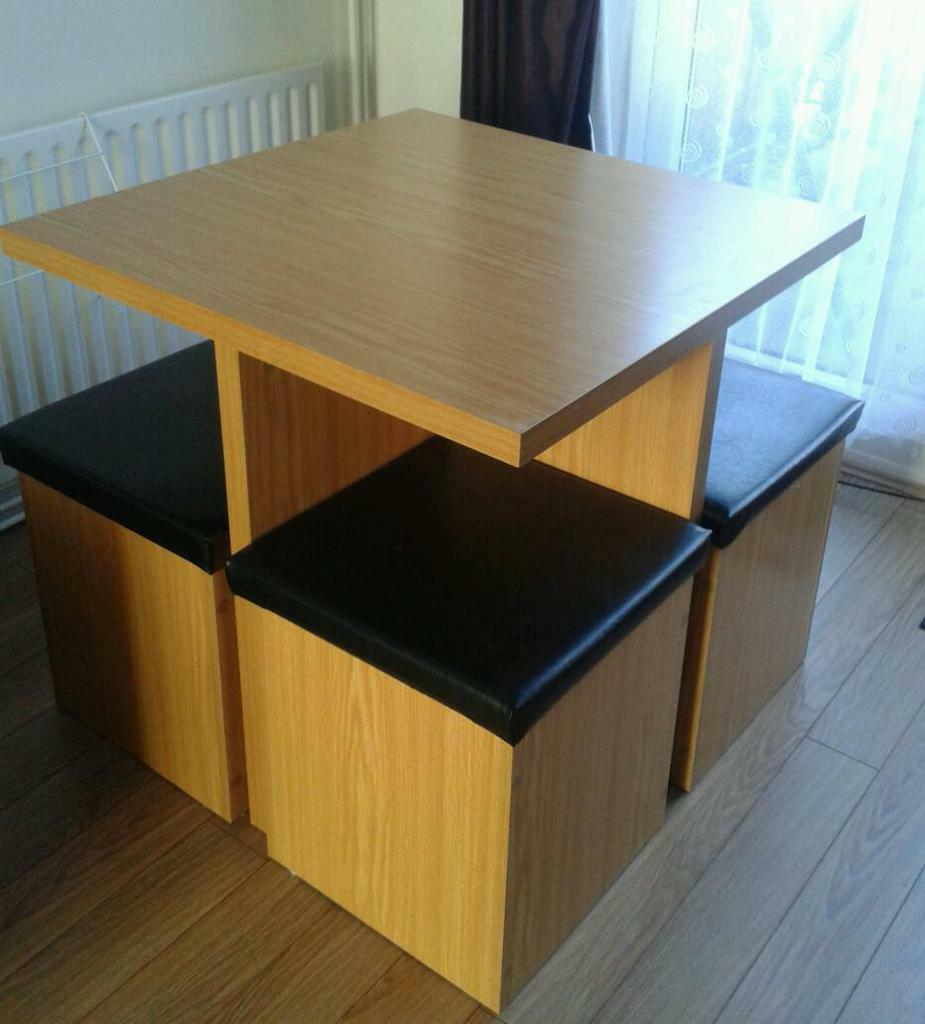 space saving table with storage stools in Coventry West  : 86 from www.gumtree.com size 925 x 1024 jpeg 75kB