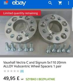 Wheel spacers 20mm 5x110 Vauxhall