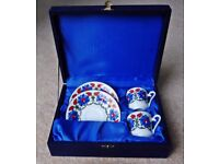 Hand painted Turkish porcelain coffee set (never used)