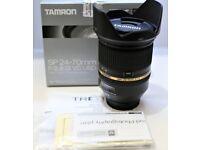 Mint Tamron SP 24-70mm f/2.8 Di VC USD, Nikon fit UK Model