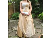 Gold Alexia Grace Harrington Prom Dress