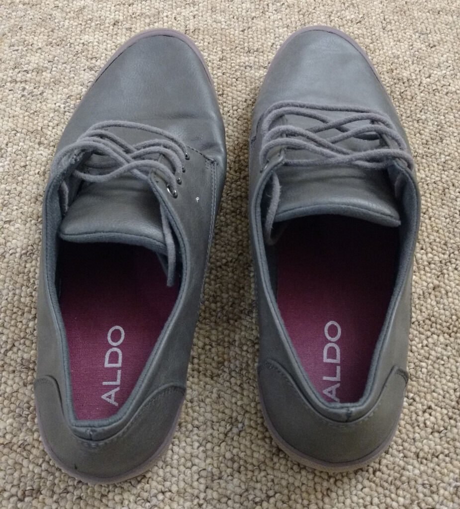 Aldo Grey Smart Casual Shoes Size 11 UK
