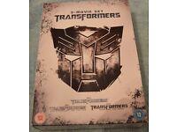 3 movie set of Transformers DVD's