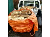 2 Full Dumpy Bags Of Mixed Dry Logs Delivered