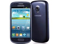 Samsung Galaxy S3 mini Blue (Unlocked) in good condition