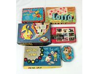 vintage games from the sixties, Lotto,Beetle drive, whirly wizard