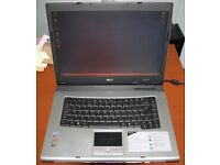 "Acer Aspire - 1642wlmi Intel Pentium M 1.7GHz, 1.5GB Ram, 15.4"" Screen, 12GB HDD"