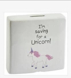 Saving For Unicorn Money Bank