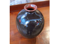 LOVELY BROWN GLAZE POTTERY VASE APPROX 38cm Perfect Condition