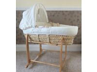'Loved So Much' Moses Basket and Rocking Stand Bundle ** Immaculate condition**