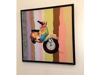 Original Canvas Scooter Painting