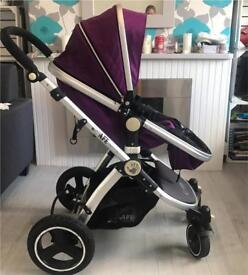 Purple isafe complete travel system