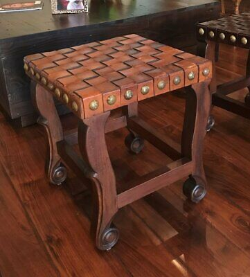 Spanish Colonial Stool - (Colonial Backless Bar Stool)