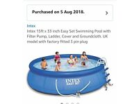 Garden Intex Swimming Pool 15ft x 33 inch - NEW
