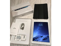 Apple-iPad-Air-128GB-Wifi-Cellular-4G-A1475-Silver-White-Unlocked-9-7-034-mint condition like new