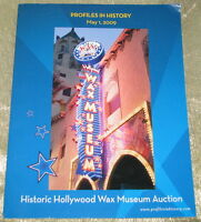 RARE HISTORIC HOLLYWOOD WAX MUSEUM AUCTION CATALOGUE, 2009