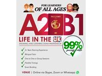 A2/B1/Life in the UK Preparation Training - English Exam Classes