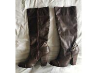 Brown Knee Length DP Boots