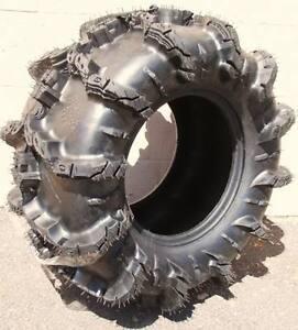 Set of (2) 25-10-12 & (2) 25-8-12 Interco Black Mamba Light ATV 6 ply Lite Tires