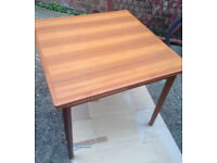 vintage table teak from denmark danish with 4 chairs