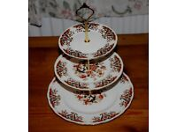 Colcough ROYALE big three tier cake stand with golden fittings