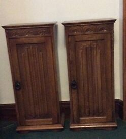 Pair of Old Charm style CD cabinets