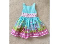 Girls NEXT Blue Carnival Dress Age 4 Years