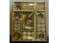 NEW Candle and Candle Holder Gift Set - Box